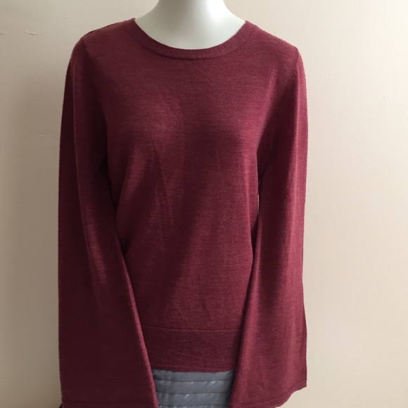 Details about Nanette by Nanette Lepore Pullover Sweater Size S Gray Merino Wool